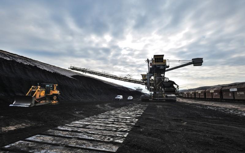 Morgenstimmung über der Grube im Braunhohle-Tagebau Cottbus-Nord