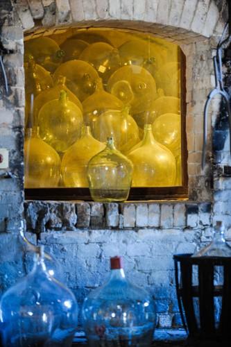 Installation im Glasmuseum Baruther Glashütte