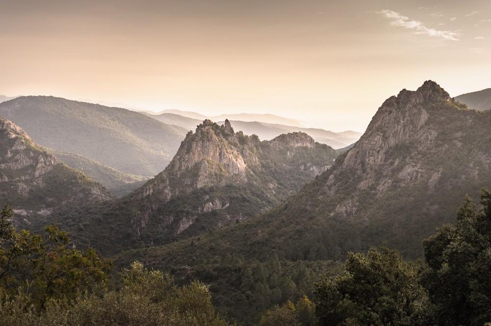 Blick vom Geisterdorf Muna, Korsika