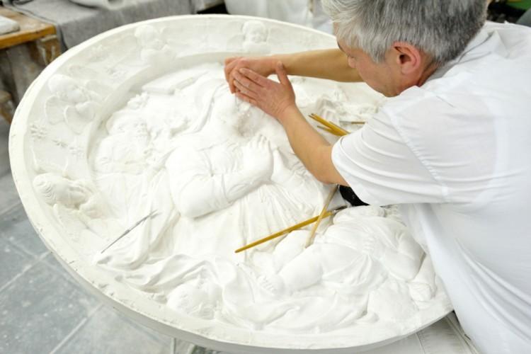 Arbeit in der Werkstatt der Gipsformerei der Staatlichen Museen zu Berlin