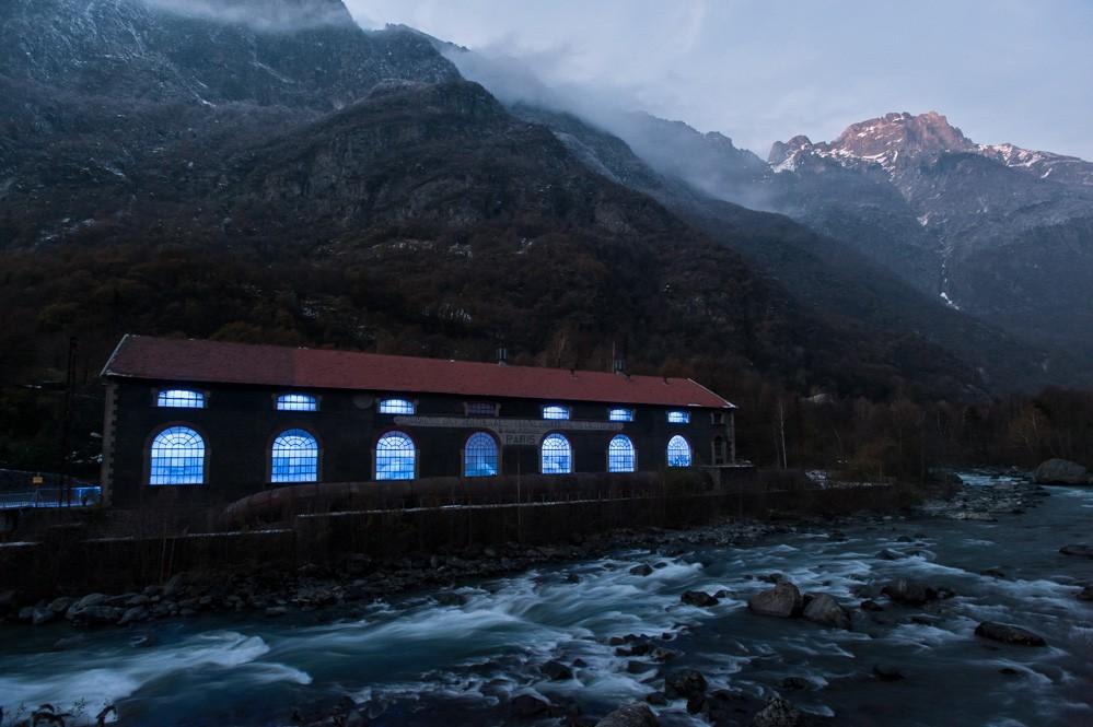 Wasserkraftwerk, französische Alpen