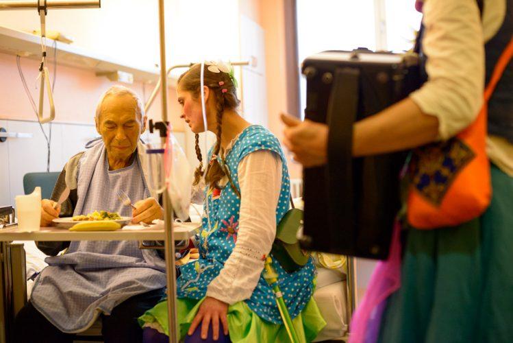 Die Potsdamer Klinikclowns auf der Palliativstation