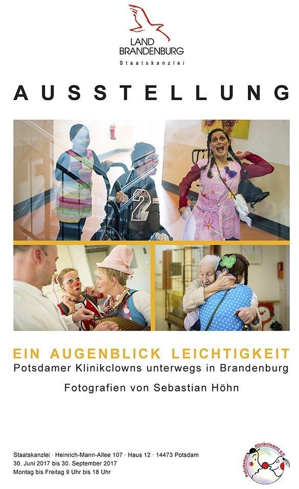 """Foto-Ausstellung """"Ein Augenblick Leichtigkeit - Klinikclowns unterwegs in Brandenburg"""" von Sebastian Höhn"""