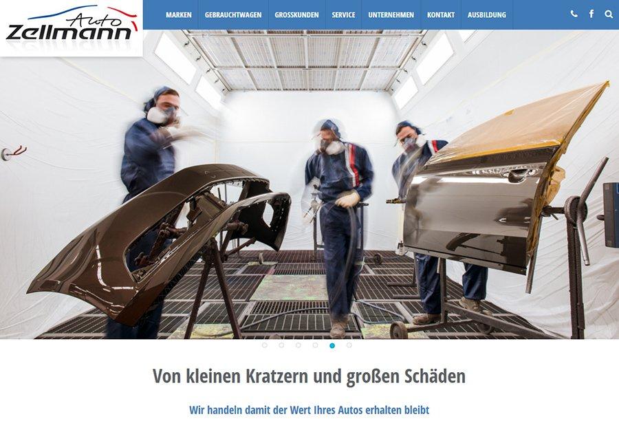 Fotos für die Website vom Autohaus Zellmann