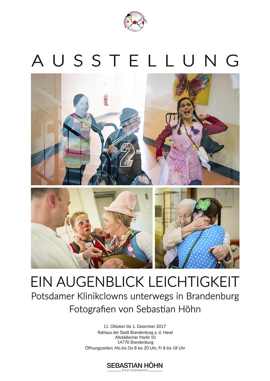 Fotoausstellung Ein Augenblick Leichtigkeit Potsdamer Klinikclowns unterwegs in Brandenburg von Sebastian Höhn