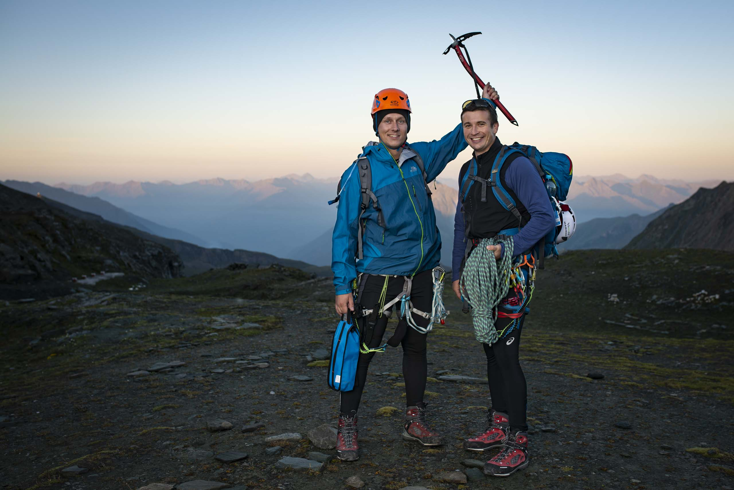 Zwei Bergsteiger am Großglockner