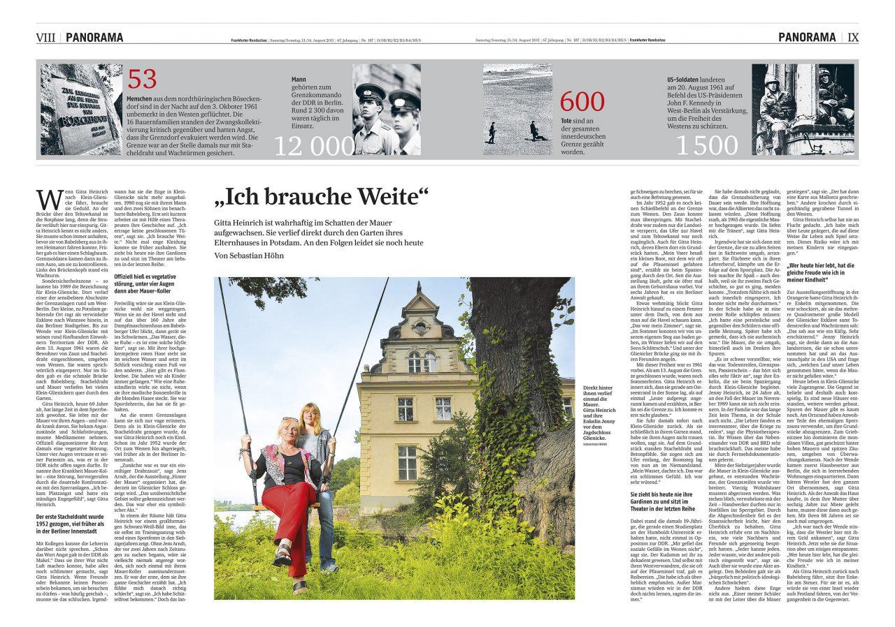 Reportage 50 Jahre Mauerbau Frankfurter Rundschau